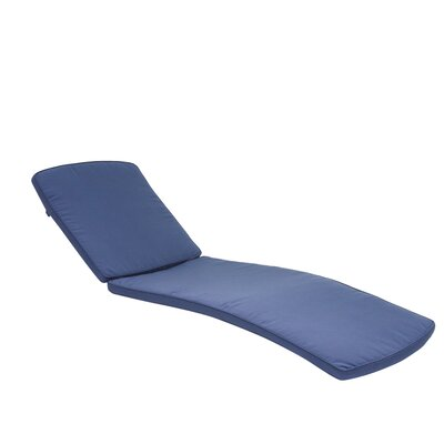 Outdoor Chaise Lounger Cushion Color: Blue