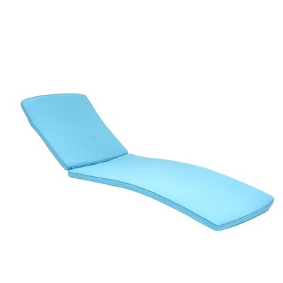 Outdoor Chaise Lounger Cushion Color: Turquoise