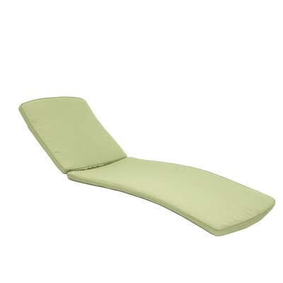 Outdoor Chaise Lounger Cushion Color: Green
