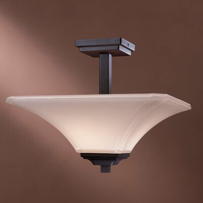 Byrnes 2-Light Semi Flush Mount Finish: Black