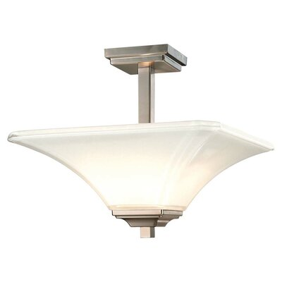 Byrnes 2-Light Semi Flush Mount Finish: Brushed Nickel