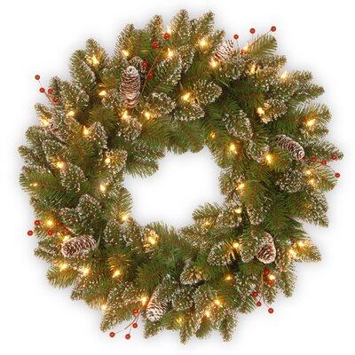 Patmore Pre-Lit Faux Spruce Wreath