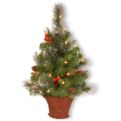 Spruce Half Artificia Christmas Foliage Tree in Pot
