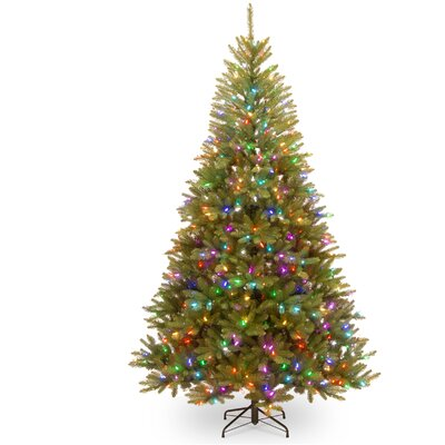 7.5' Green Fir Artificial Christmas Tree with 600 Light Parade LED Lights Includes Stand