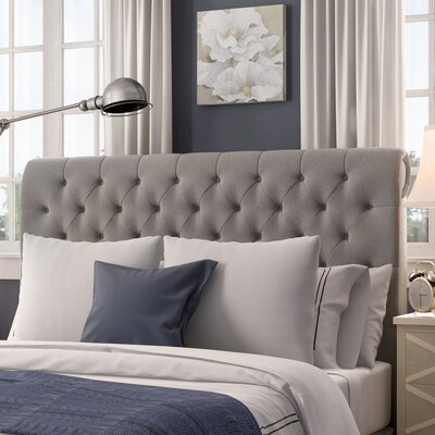 Hinsdale Queen Upholstered Panel Bed Upholstery: Gray