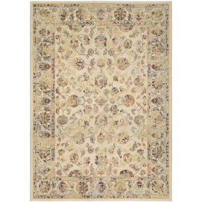 Salford Beige Area Rug Rug Size: Rectangle 53 x 76