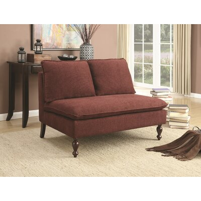 Russiaville Broward Settee Upholstery: Red