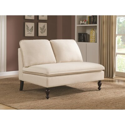 Russiaville Broward Settee Upholstery: White