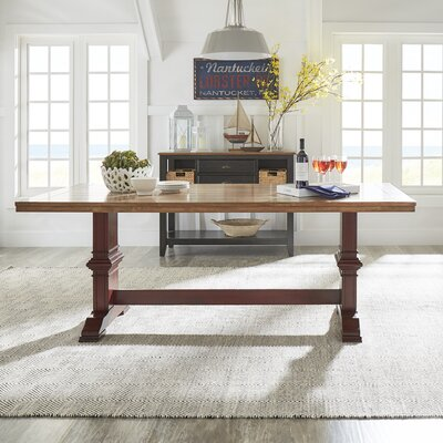 Fortville Dining Table Base Color: Berry Red