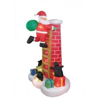 Christmas InflatableSanta Claus Climbing Chimney Decoration