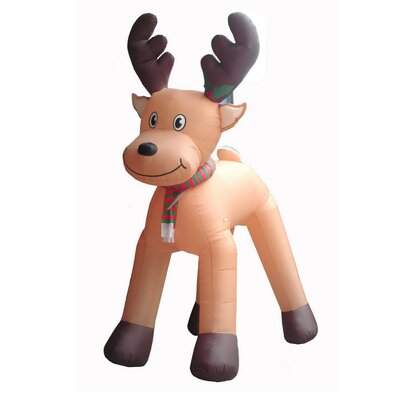 Christmas Inflatables Animated Reindeer Decoration