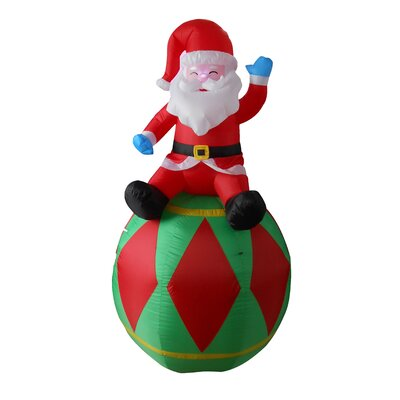 Christmas Inflatable Santa on Ornament Decoration