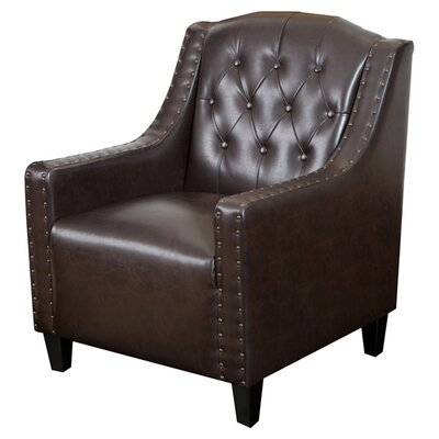 Barnard Tufted Club Chair Upholstery: Espresso Brown