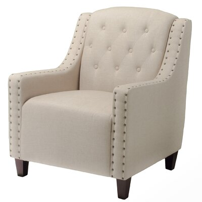 Barnard Tufted Club Chair Upholstery: Beige