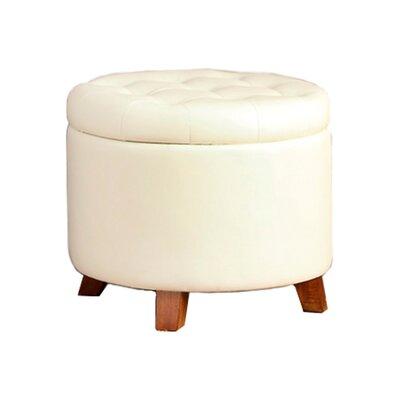 Barron Storage Ottoman Upholstery: White