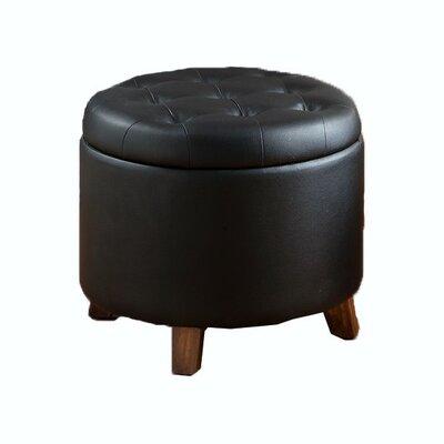 Barron Storage Ottoman Upholstery: Black