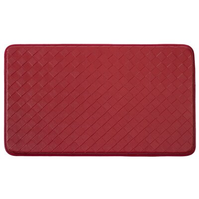 Bartlet Non-Skid Comfort Diamond Chef Kitchen Mat Color: Red