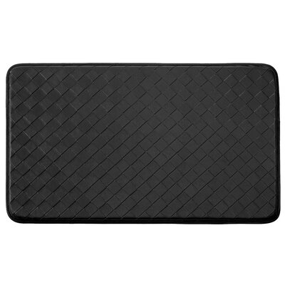 Bartlet Non-Skid Comfort Diamond Chef Kitchen Mat Color: Black