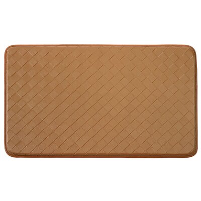 Bartlet Non-Skid Comfort Diamond Chef Kitchen Mat Color: Tan