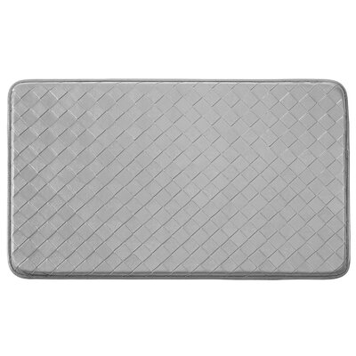 Bartlet Non-Skid Comfort Diamond Chef Kitchen Mat Color: Steel Grey