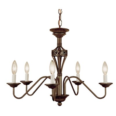Barrview 5-Light Candle-Style Chandelier Finish: Antique Rust