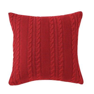 Machias Euro Sham Color: Red