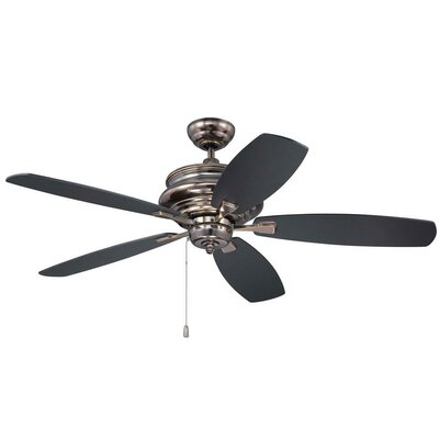 52 Bateson 5 Blade LED Ceiling Fan Finish: Legacy Brass with Walnut/Black Blades