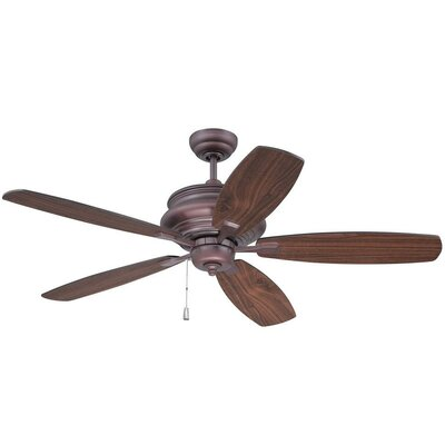 52 Bateson 5 Blade LED Ceiling Fan Finish: Oiled Bronze with Walnut/Oiled Bronze Blades