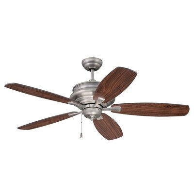 52 Bateson 5 Blade Ceiling Fan Finish: Pewter with Walnut/Black Blades