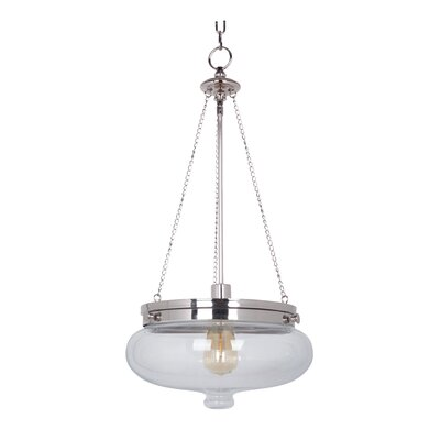 Bateson 1-Light Pendant Finish: Polished Nickel
