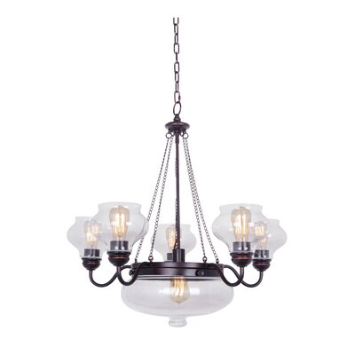 Bateson 6-Light Shaded Chandelier Finish: Oil Rubbed Gilded
