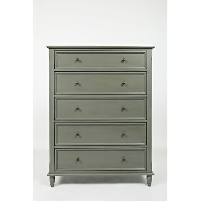 Beatrice 5 Drawer Chest Color: Grey