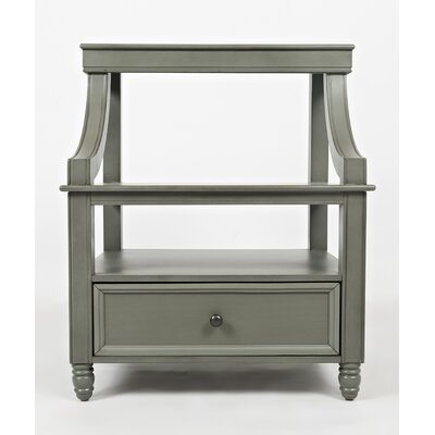 Beatrice 1 Drawer Nightstand Color: Grey