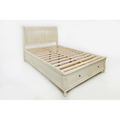 Beatrice Queen Platform Bed Color: Ivory