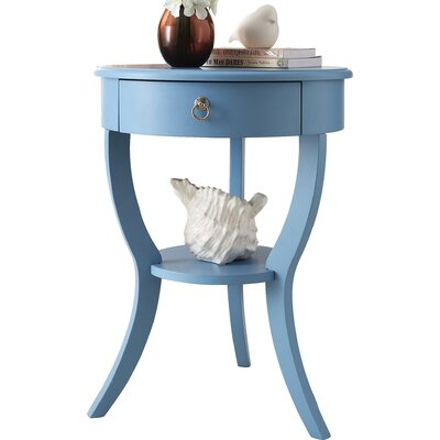 Beekman End Table With Storage� Color: Light Blue