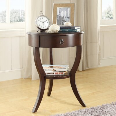 Beekman 1 Drawer End Table Finish: Espresso