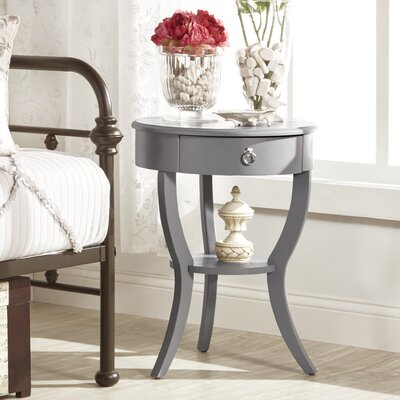 Beekman 1 Drawer End Table Finish: Gray