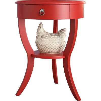 Beekman End Table With Storage� Color: Red