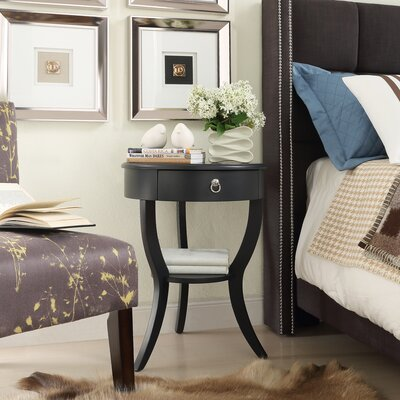 Beekman 1 Drawer End Table Finish: Vulcan