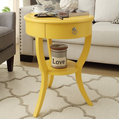 Beekman 1 Drawer End Table Finish: Yellow
