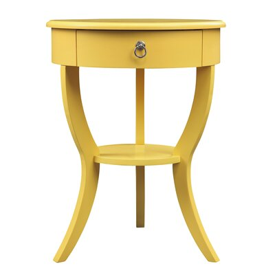 Beekman End Table With Storage� Color: Yellow