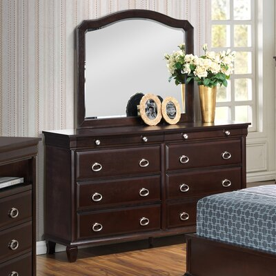 Clarkstown 8 Drawer Dresser with Mirror