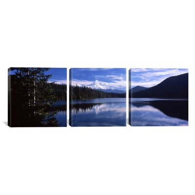 Clouds at Lost Lake, Mt. Hood National Forest, Oregon 3 Piece Photographic Print on Wrapped Canvas Set Size: 12