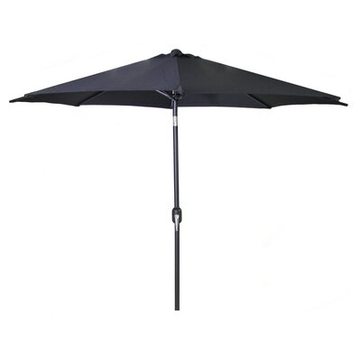 New Haven Market Umbrella Fabric: Black