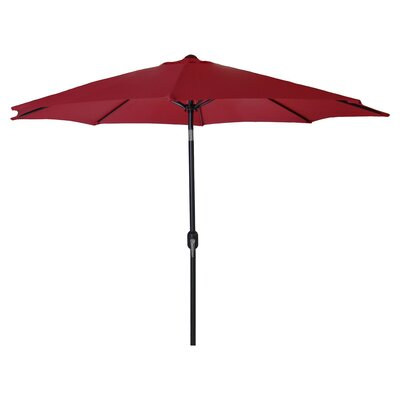 New Haven Market Umbrella Fabric: Burgundy