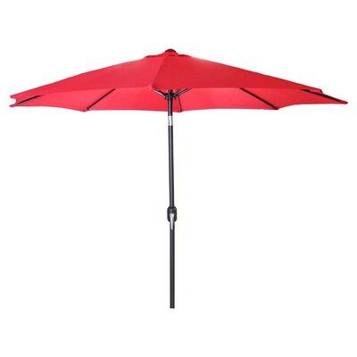 New Haven Market Umbrella Fabric: Red