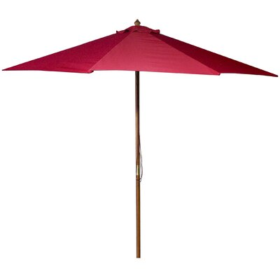 New Haven 9 Market Umbrella Fabric: Red