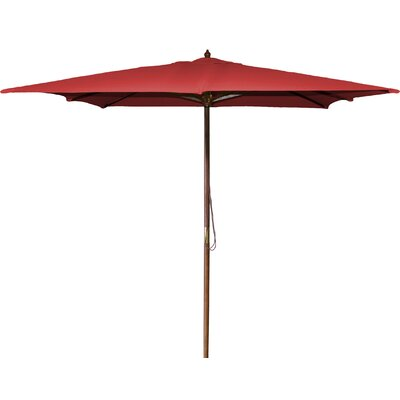 New Haven 8.5 Square Market Umbrella Fabric: Red