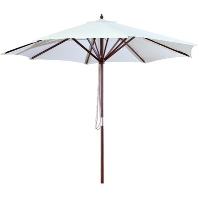 New Haven 9 Market Umbrella Fabric: Natural
