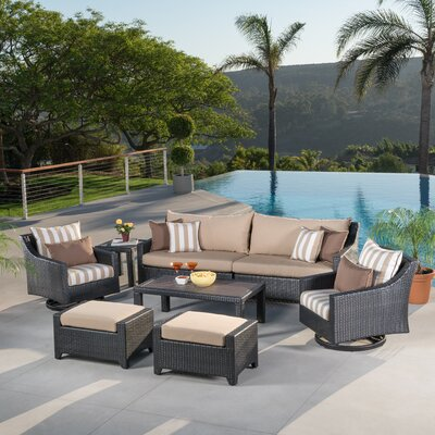 Northridge 8 Piece Deep Seating Group Fabric: Maxim Beige